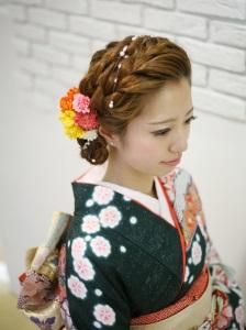 〇成人式の髪型でロングヘアなら前髪なしの編み込みスタイルがおすすめ♪
