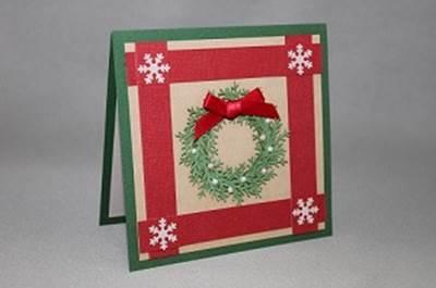 クリスマス カード 手作り 簡単 作り方