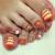 夏はフットネイルの季節!オレンジを使ったおすすめのフットネイルデザイン7選!